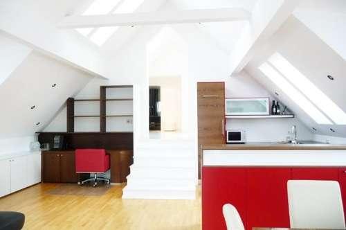 Maxglan - Dachterrassenwohnung: Besonderes Design mit Terrasse + Garage