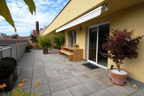 Graz-Stadt: Im Grünen mit 94 qm Terrasse + Lift + klimatisiert + neuwertig - mit jeglichem Komfort