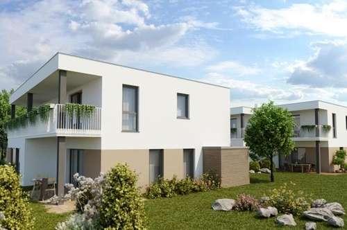 NEUBAU Maisonette-Doppelhaus in ruhiger Grünlage+Terrasse/Garten +Carrport nahe Stadtzentrum