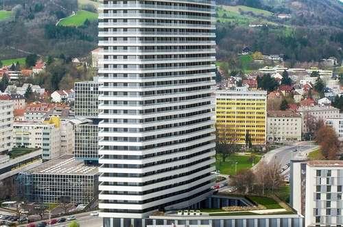 Tower-Power! Feel it! Singlewohnungen im höchsten Wohntower von Urfahr! Klein, charmant und elegant! Balkon inklusive!
