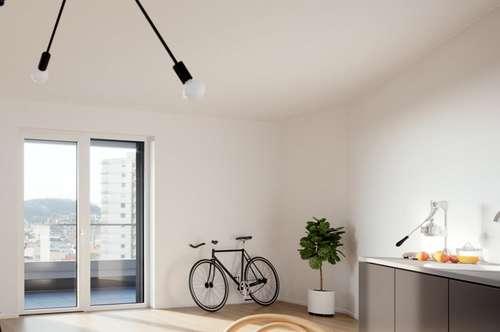 Brillante Lösung für ANLEGER: Flexibel und schnell auf Veränderungen am Wohnungsmarkt reagieren! Beispiel: Investitionspaket von 3 Microflats mit Balkon im BRUCKNER-TOWER!