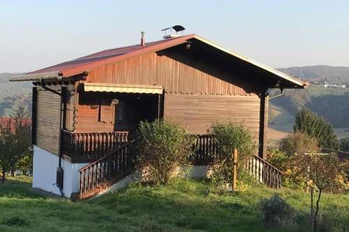 Geniessen Sie diese Süd-West Aussicht über das Hügelland. ausbaufähiges Wochenendhaus- 1500m2 Grund