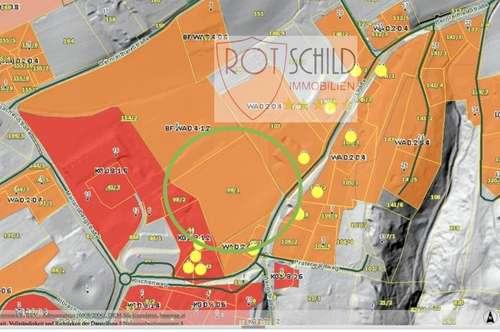 interessantes Bauträger Grundstück- Zentrum von Bad Gleichenberg, Dichte WA 0,4-1,2, knapp 10.000m2.