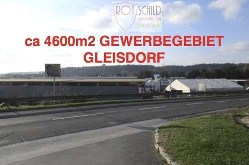 GLEISDORF- sehr interessanter Gewerbegrund 4600m2 in Top Lage, Einkaufszentrum, Gewerbepark