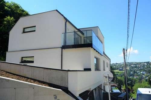EXTRAVAGANTE ARCHITEKTUR. Repräsentativ gestaltetes Architektenhaus in Klosterneuburger Ruhelage am Fuße des Buchberges.