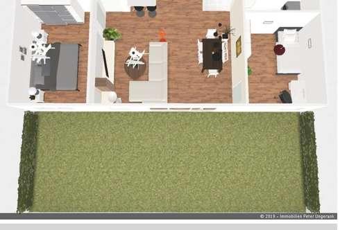 ERSTBEZUG!! Sehr gut aufgeteilte 3 Zimmer Gartenwohnung zu vermieten