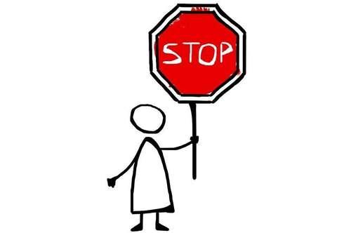 STOP! HIER KANN IHR AUTO STEHEN!