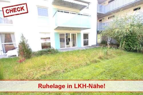 Moderne Gartenwohnung Nähe Privatklinik Ragnitz!
