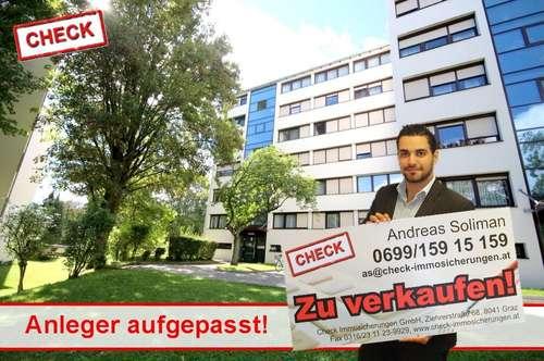 Ruhig gelegene Anlegerwohnung mit Loggia und allgemeinen Parkplatz in Graz - Eggenberg!