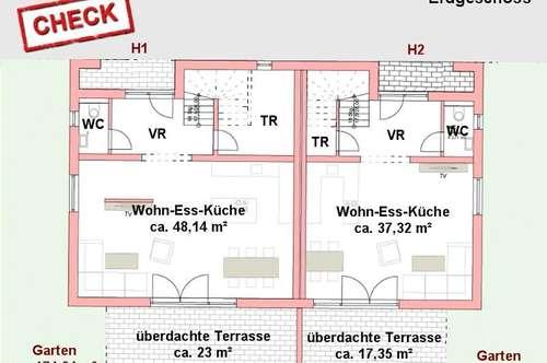 Neubau-Doppelhaus mit Dachterrassenoption in Unterpremstätten!
