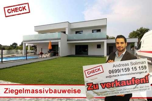 Exklusiv! Neubau-Doppelhaushälfte in Ziegelmassivbauweise in Graz!
