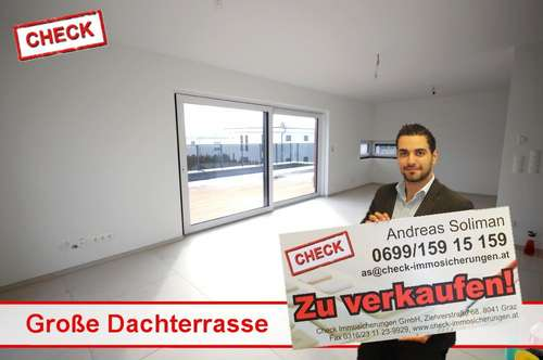 80 m² Terrasse! Neubau-Penthouse in Ziegelmassivbauweise in Seiersberg!