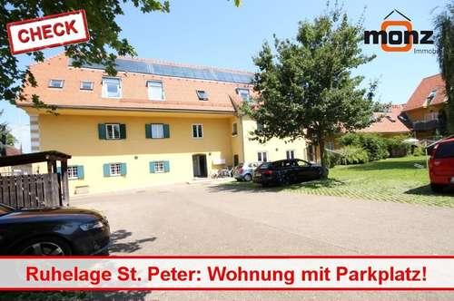 3 Zimmer mit Parkplatz in Ruhelage St. Peter!
