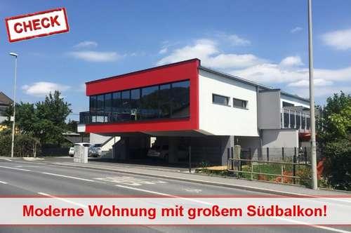Neubau-Wohnung mit großem Süd-Balkon und unverbaubarem Blick!