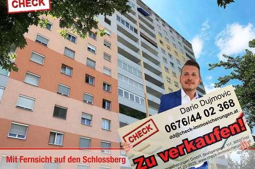 Top Eigentumswohnung mit Loggia und Fernblick auf den Schlossberg !