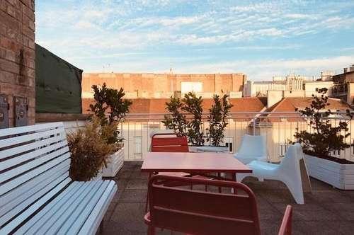 Apartment mit großer Terrassein Superlage für Ihren privaten oder geschäftlichen Wienaufenthalt bis zu 6 Monaten