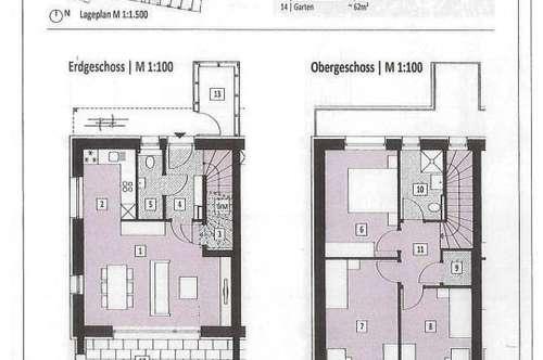 Reihenhaus mit Loggia und Eigengarten