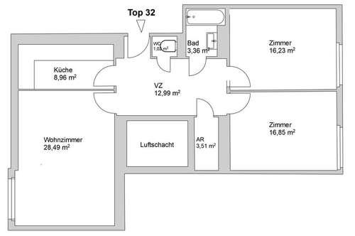 3-Zimmer-Wohnung / Zentral begehbar / Möbliert oder unmöbliert zu vermieten