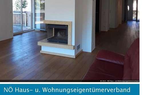 Krems: 120m² Mietwohnung mit Blick ins Grüne mit Terrasse und Gartenmitbenützung (Pool!)
