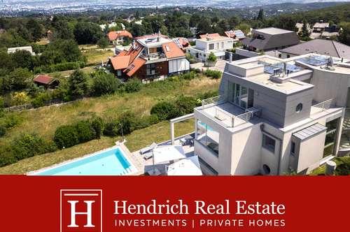 Traumhafte Architekten-Villa mit Pools, Lift und Wienblick
