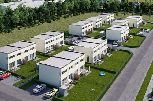SCHLÜSSELFERTIGE und PROVISIONSFREIE Doppelhaushälfte in Passivbauweise Top E1 in ruhiger Lage nach Süden ausgerichtet