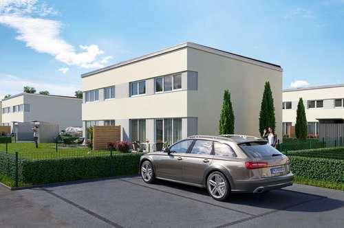 SCHLÜSSELFERTIGE und PROVISIONSFREIE moderne Doppelhaushälfte in Passivbauweise Top E2 mit großzügigem Garten in ruhiger Lage in Wiener Neustadt