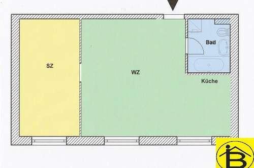 13344 - 45 m², 2 Zimmer, Parkplatz