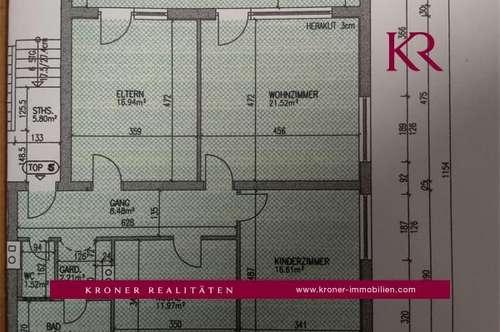 Sonnige 3-Zimmer-Wohnung in Ebbs zu vermieten