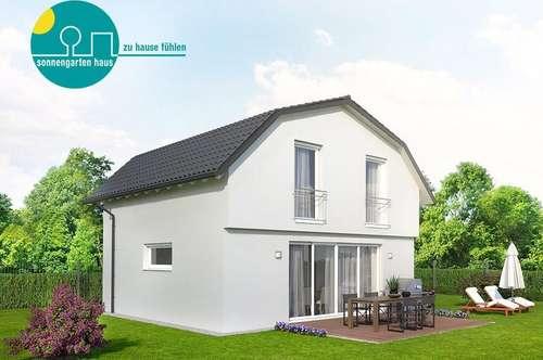 """Ziegelmassives Einfamilienhaus """"Energieklasse A++"""" mit Keller und Gartenoase"""