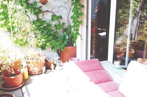 Sonnige und großzügig angelegte 2-Zimmer Wohnung mit Terrasse - BAHNHOFSNÄHE - unbefristet - keine Provision