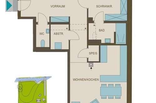 Großzügige 4-Zimmer Wohnung mit Blick auf den Petersbach!