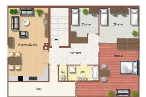4 Zimmer - DG -WOHNUNG in einem Zweifamilienhaus mit Gartenmitbenutzung
