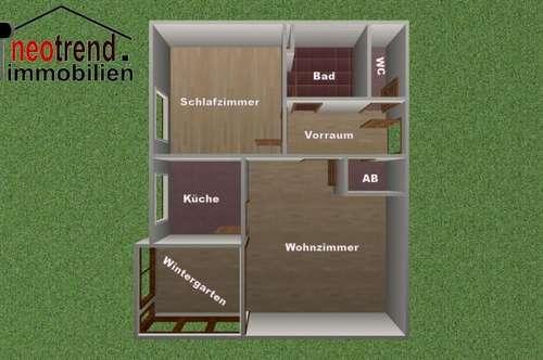 Hammerpreis!! 2 Zimmerwohnung mit Wintergarten, Nähe Freibad Weitensfeld