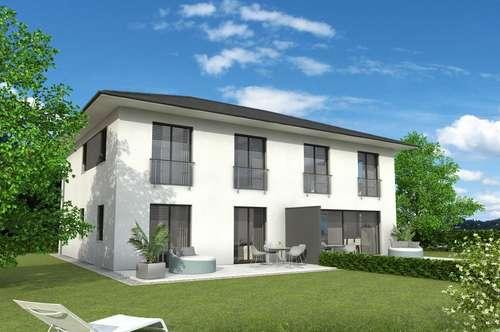 Massives Doppelhaus in Ruhelage mit Grundstück