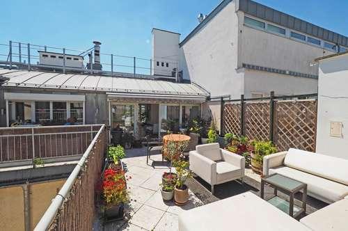 außergewöhnliche 3-Zimmer-Dachgeschoß-Wohnung mit Terrasse | extraordinary roof-top-penthouse with terrace