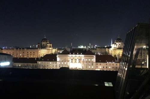 Blick auf das Museumsquartier - Luxus-Dachgeschoss mit Sonnenterrasse // View over Museumsquartier - Luxury Attic Duplex with sunny Terrace