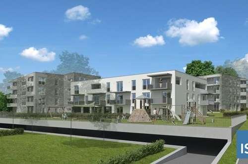 """Top 8 mit 27 m² Eigengarten, Neubauprojekt Schärding """"Kreuzberg"""", Mietkaufwohnung Typ 1 (2-Zimmer)"""