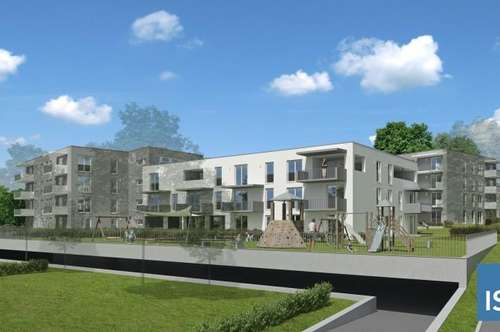 """Top 3 mit 32 m² Eigengarten, Neubauprojekt Schärding """"Kreuzberg"""", Mietkaufwohnung Typ 3 (3-Zimmer)"""