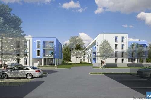 """Neubauprojekt """"living blue"""" in Braunau, Michaelistraße, Eigentum, Penthouse-Wohnung Top 33, Typ G"""