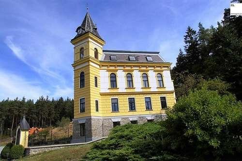"""Familiensitz """"Schloss Harruck"""" – repräsentativ-historisches Herrenhaus mit großem Grund"""