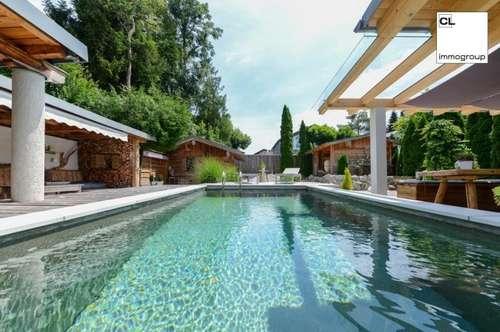 Designer-Villa mit Luxus-Ambiente - Pool, schöner Ausblick und Top-Ausstattung (in Rif, nahe Anif/Niederalm, Salzburg Süd)