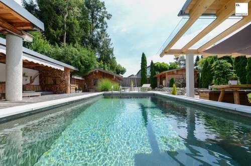 Designer-Villa mit Luxus-Ambiente - Pool, schöner Ausblick und Top-Ausstattung (in Rif, nahe Anif/Niederalm und Salzburg Süd)