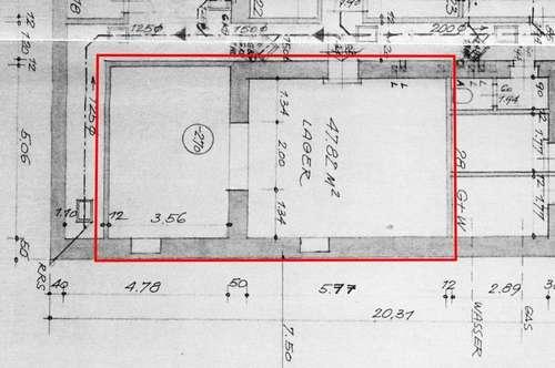 Kellerlager mit Lift in Neubau
