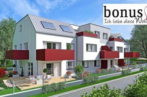 Familientraum: großzügige 4-Zimmer Gartenwohnung (Eigengrund) mit 2 Terrassen und Garagenplatz. Schnellbahn in Fußgehdistanz!