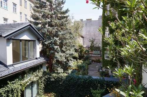 Absolute Grünruhelage! Moderne 3-Zimmer-Erstbezugs-Wohnung mit Galerie und Südterrasse in historischem Gebäude