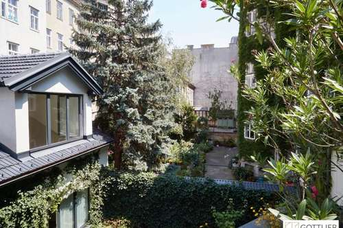 Südterrasse in wunderschöner Grünruhelage! Exklusive 3-Zimmer-Erstbezugs-Maisonette-Wohnung in historischem Gebäude