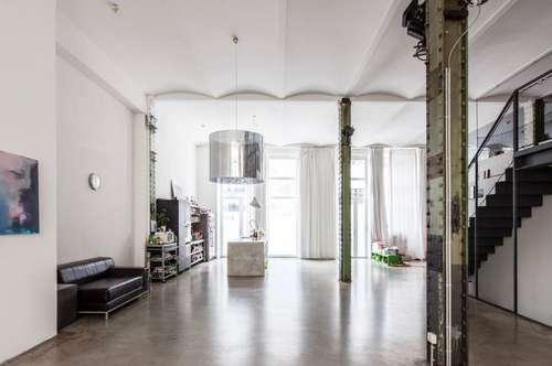 Exklusives Loft im Industrial Style mit Eigengärten und Dachterrasse für stilvolles Wohnen und Arbeiten