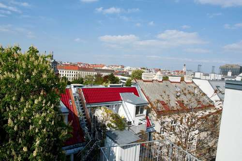 Charmante Architekten-Dachgeschoss-Wohnung mit großer Terrasse Nähe AKH und Elterleinplatz