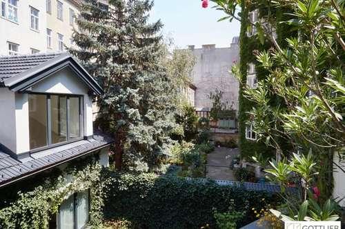 Südterrasse in absoluter Grünruhelage! Moderne 3-Zimmer-Erstbezugs-Maisonette-Wohnung in historischem Gebäude