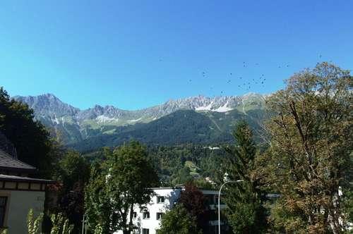 Innsbruck-Saggen: Komplett möblierte Garconniere mit Sonnenbalkon - frei ab sofort